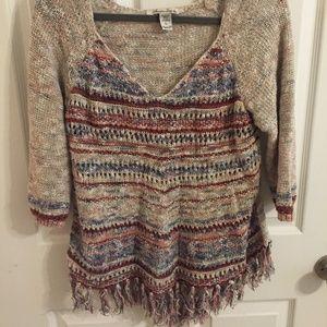 American Rag Cie 1784 3/4 sleeve sweater
